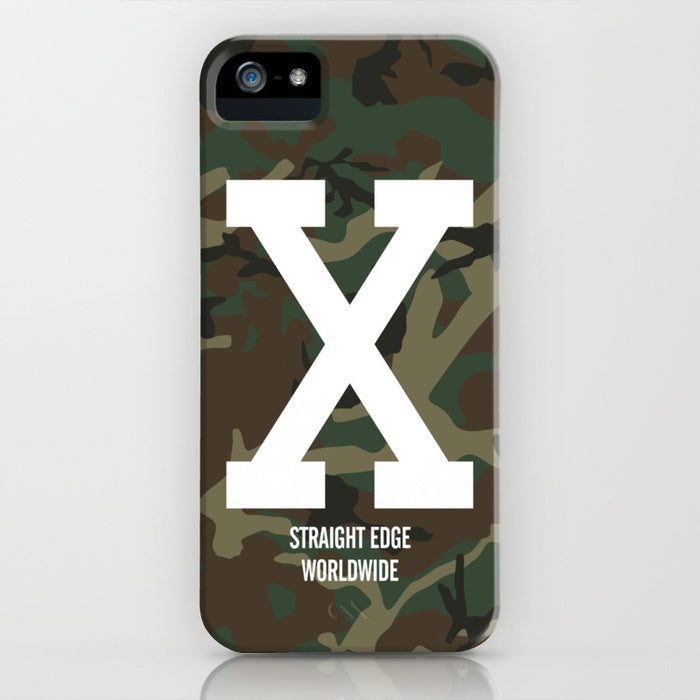 Woodland Camo Straight Edge Phone Case
