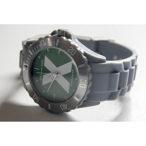 Straight Edge Watch in Gray