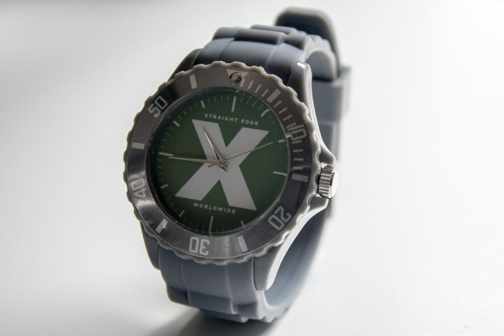 Straight Edge Watch in Grey