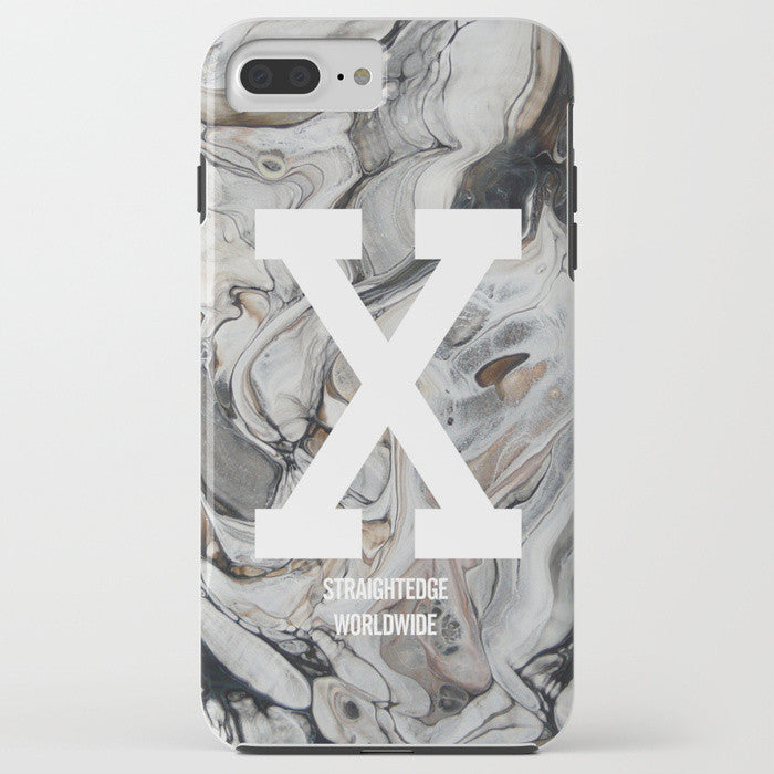 Straight Edge phone case in gray marble by STRAIGHTEDGEWORLDWIDE