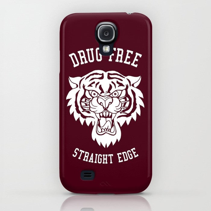 Straight Edge phone case in red by STRAIGHTEDGEWORLDWIDE