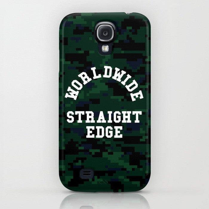 Straight Edge phone case in camo green by STRAIGHTEDGEWORLDWIDE