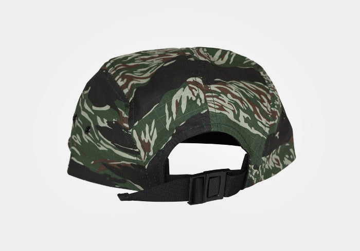 Straight Edge Flag 5-Panel Hat in Tiger Camo
