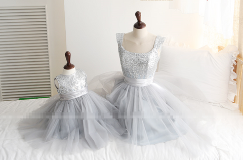 Elegant Bling Bling Mother Daughter Matching Dress MD-MA001