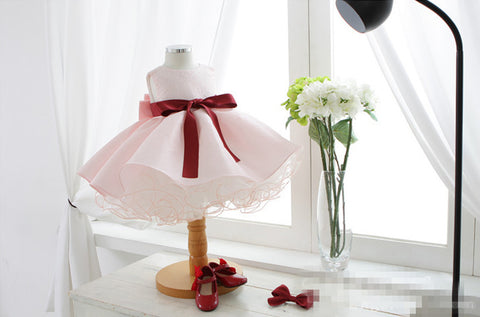Lovely Pinky Flower Girl Dress Party Dress PD-AO013