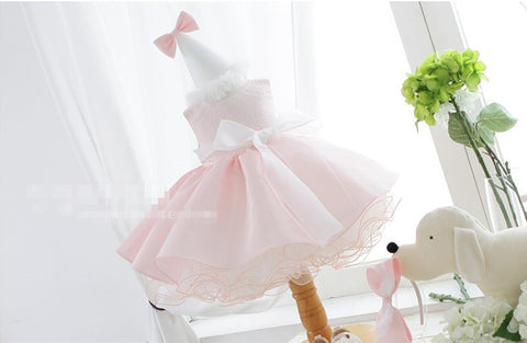 Pinky Flower Girl Dress Party Dress PD-AO018