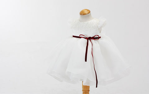 Bubble Sleeve Flower Girl Dress Party Dress PD-AO011