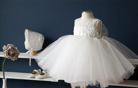 Fairy Ivory Flower Girl Dress Party Dress PD-AO001
