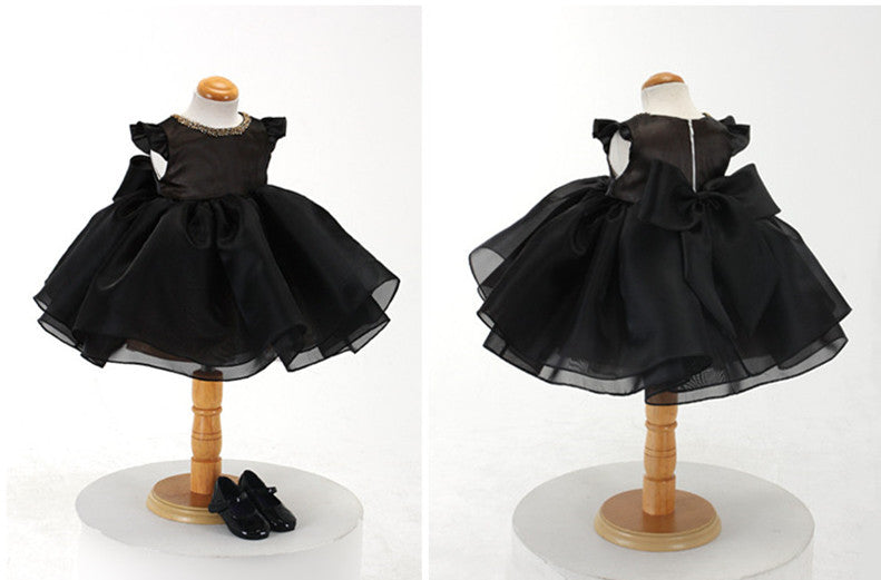 78188fbdb167 Elegant Black Baby Girl Dress Party Dress PD-AO008 – LittleGracious