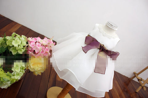Basic Style Flower Girl Dress Party Dress PD-AO017