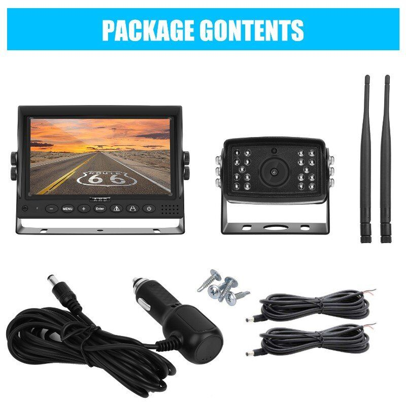 Wireless Backup Camera for Trucks, Fleets. HD, 7