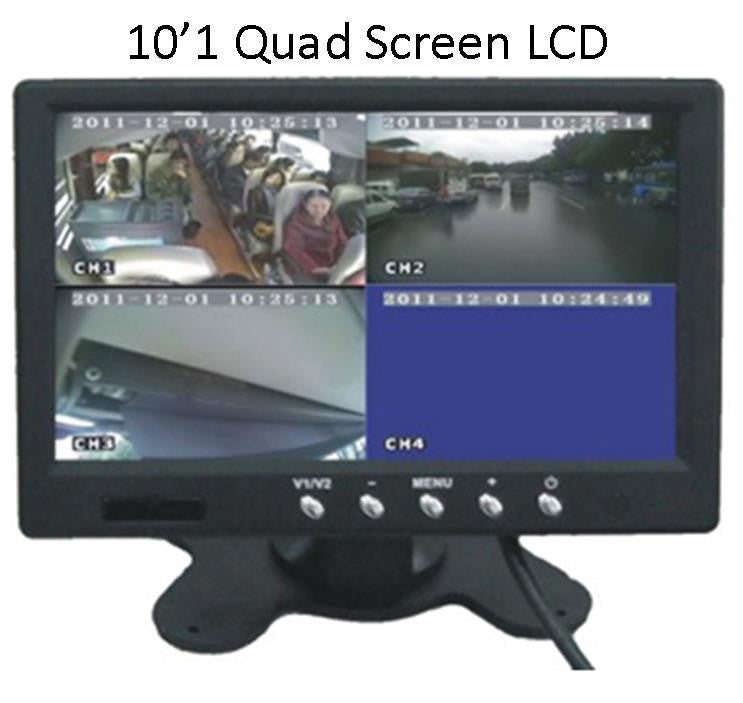 "10""Quad Screen LCD for MDVR System - FalconEye Trucker Dash Cams"