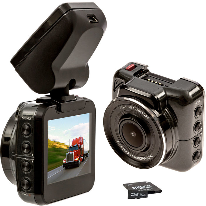 Trucker DVR Dash Camera  -1440P BEST Resolution for Day/Night! Includes 32GB, can use up to 256GB! FREE Shipping - FalconEye Trucker Dash Cams - 1