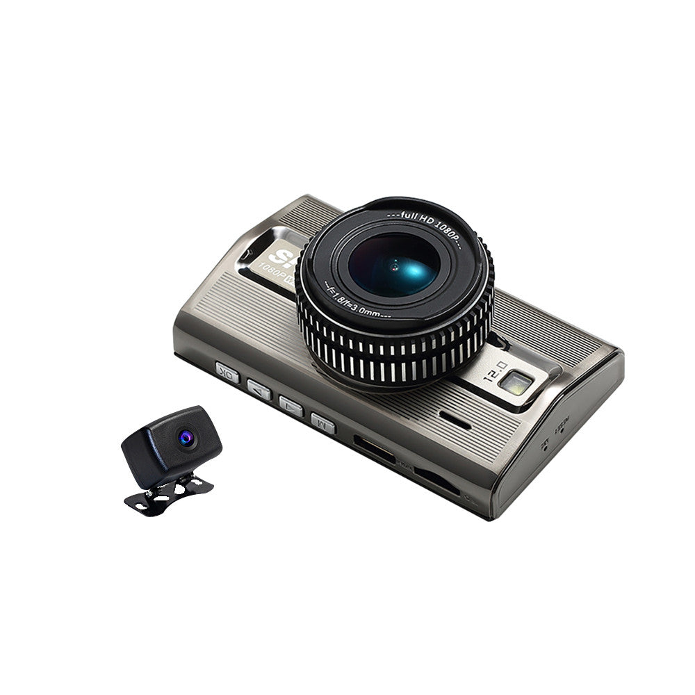 Trucker Dash Camera, Prime 2 dual dash camera system with premium best day and night recording. Includes 2 Cameras, 1 windshield mounted inside and 1 outside. Record 2 Viewpoints at Same Time,