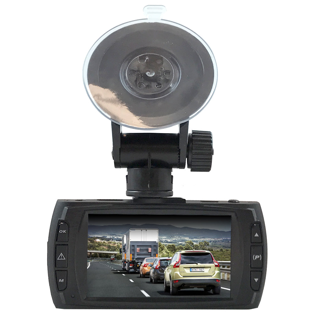 FalconEye Dual Dash cam, 1080P, Records 2 Viewpoints, Optional GPS
