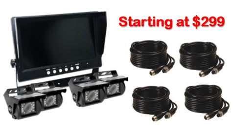 "Heavy Duty 9"" LCD WIRED DVR System! 2-4 Camera Available! Perfect System for Fleets!"