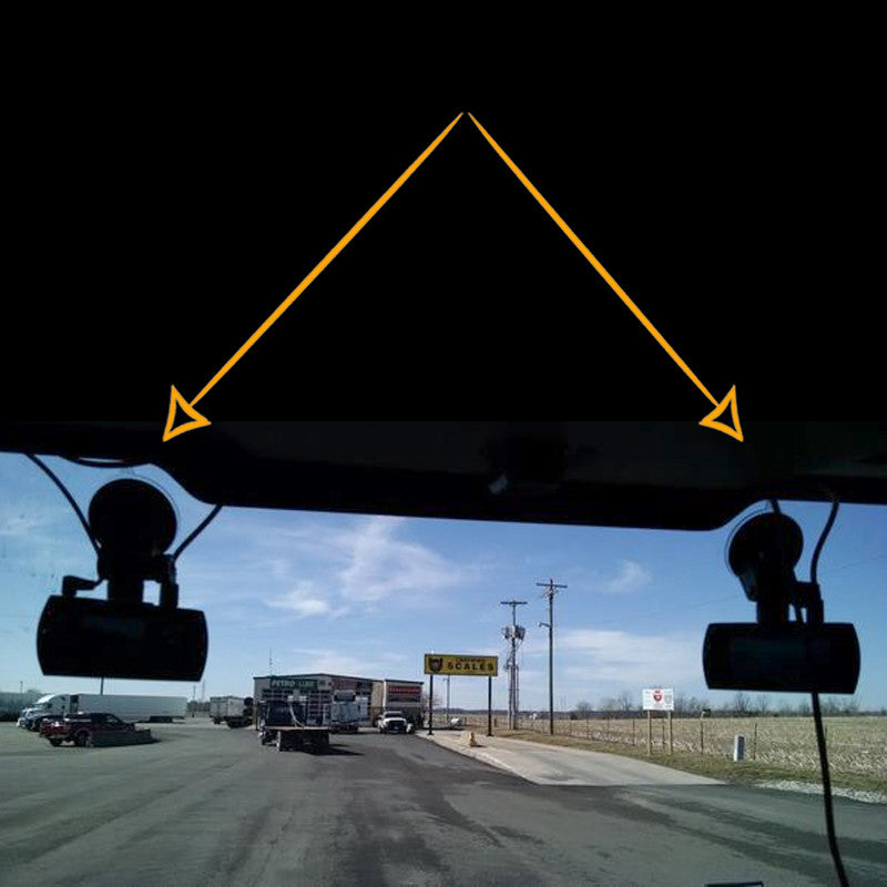 Trucker Dash Camera, Falcon Electronics Gold 1080P 4 Cameras, 2 Outdoor, 2 windshield mounted cameras. Free Shipping