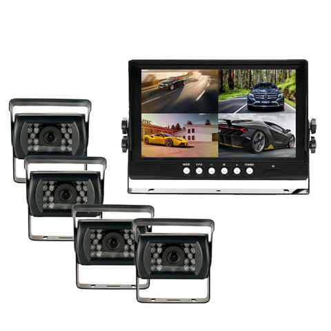 "Heavy Duty 7"" LCD WIRED DVR System! 2-4 Camera Available! Perfect System for Fleets!"