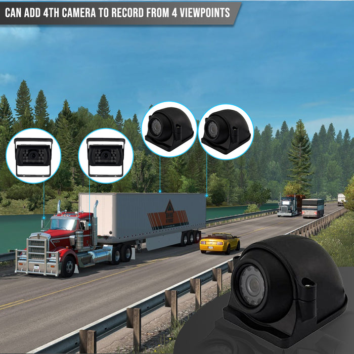"2ND GEN MULTI-CAMERA DVR SYSTEM, 2 to 4 1080P CAMS with 10"" LCD, HEAVY DUTY for TRUCKERS"