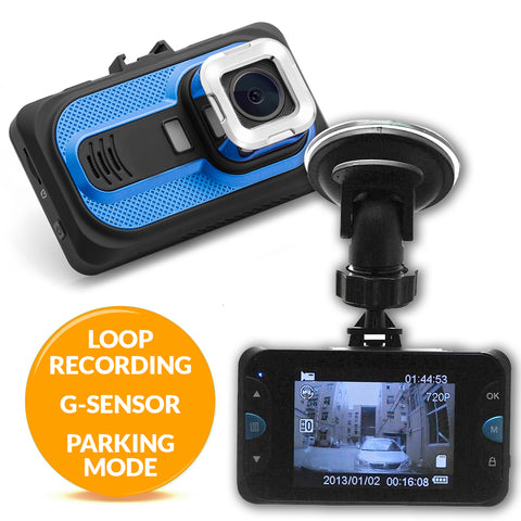 FalconEye 1080P Trucker Dash Camera - Includes 8GB SD, G-Sensor and More!
