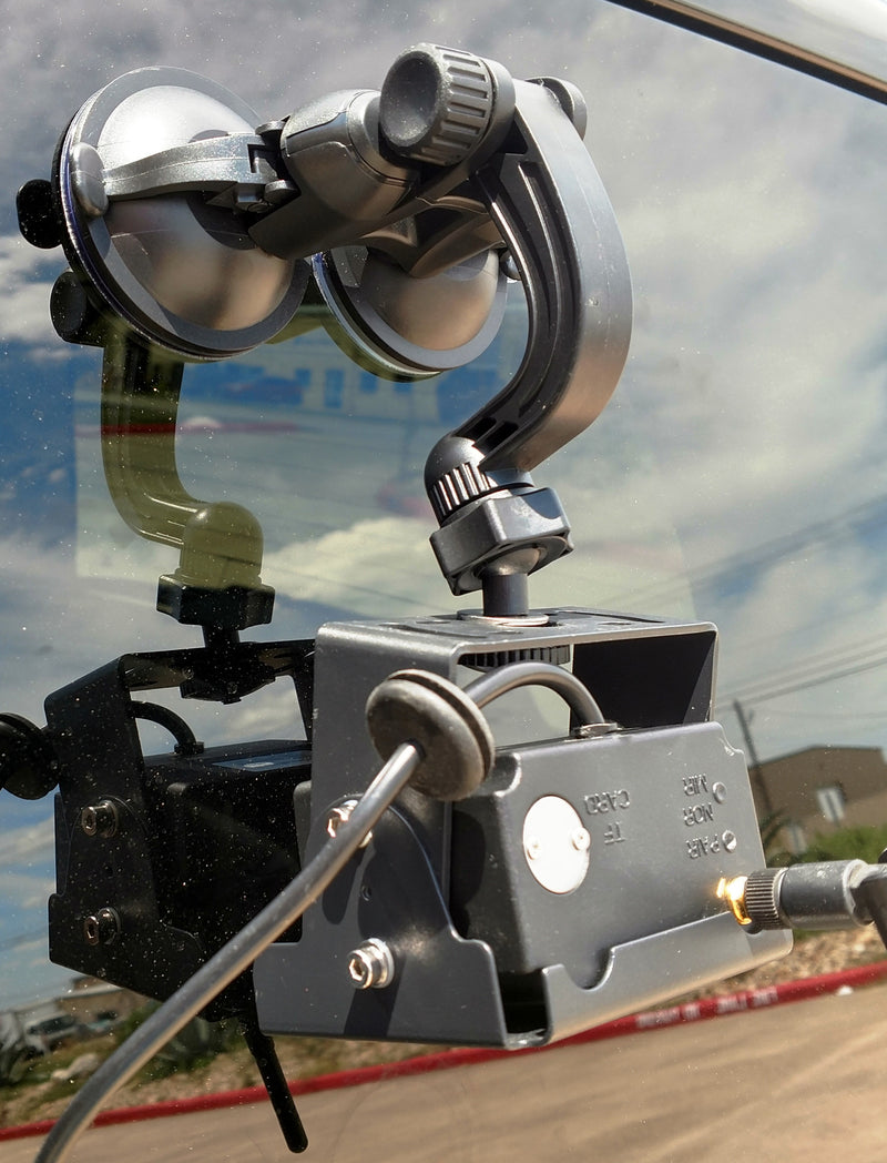 Dual Suction Cup Heavy Duty Windshield Mount - For MDVR & Digital Wireless Cameras