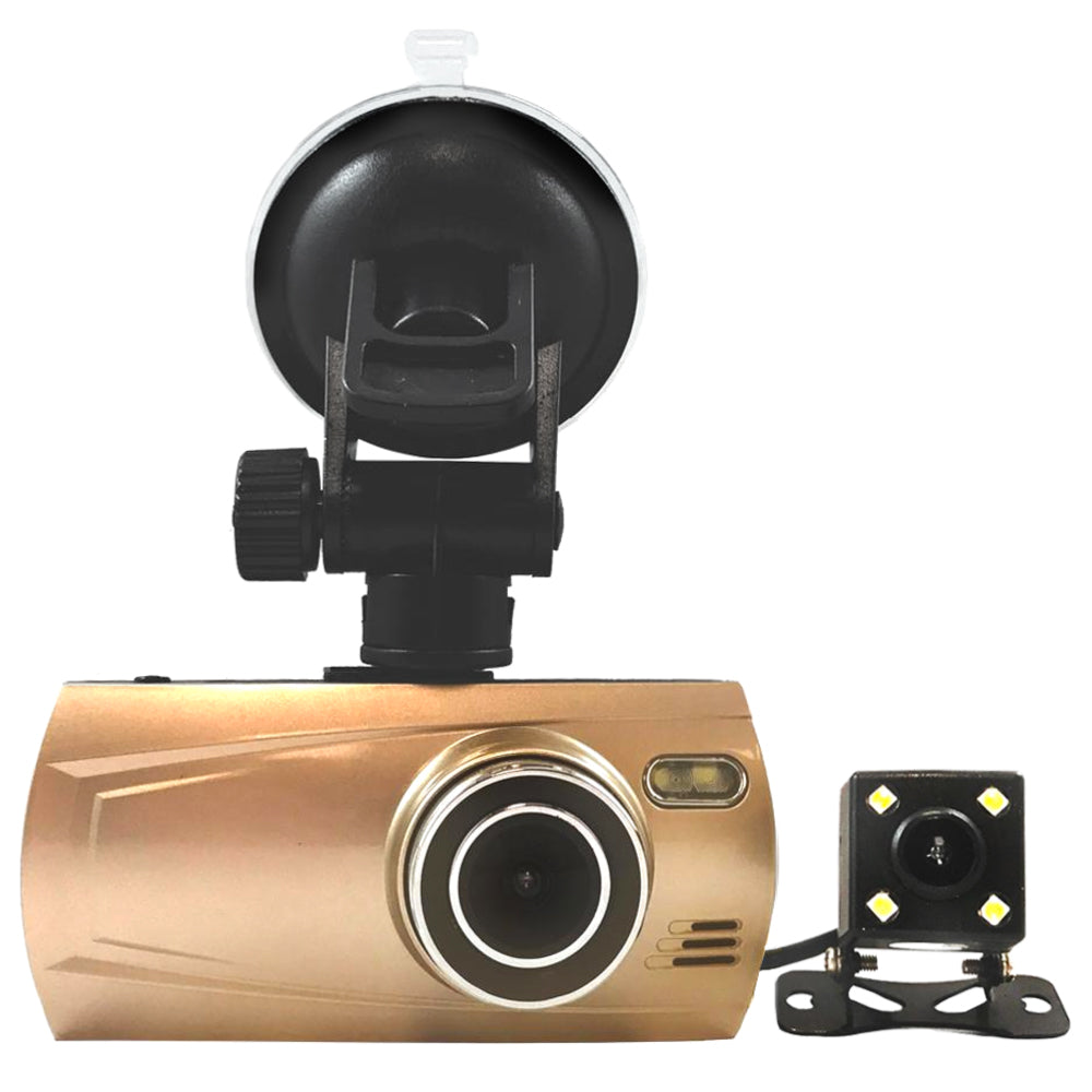 2 Cam 1080P Dashcam! Record 2 Viewpoints! With optional GPS