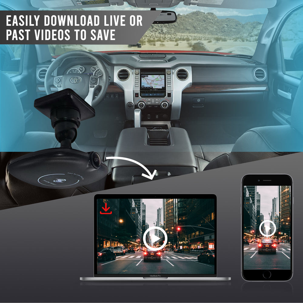 FalconEye 4G Dual Dash Cam with Live Streaming, WiFi, GPS & 1080P Cams!