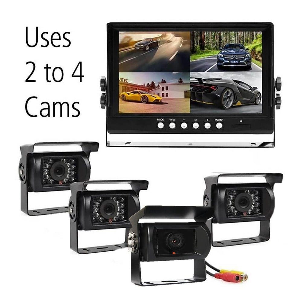 Multi Camera Dash Cam, 2 to 4 Cams and 9