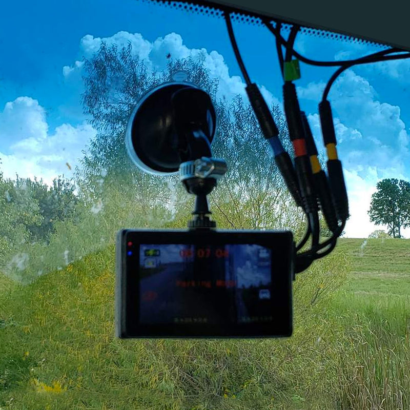 3 Camera Dashcam System - One Power Source! Record 3 Viewpoints!