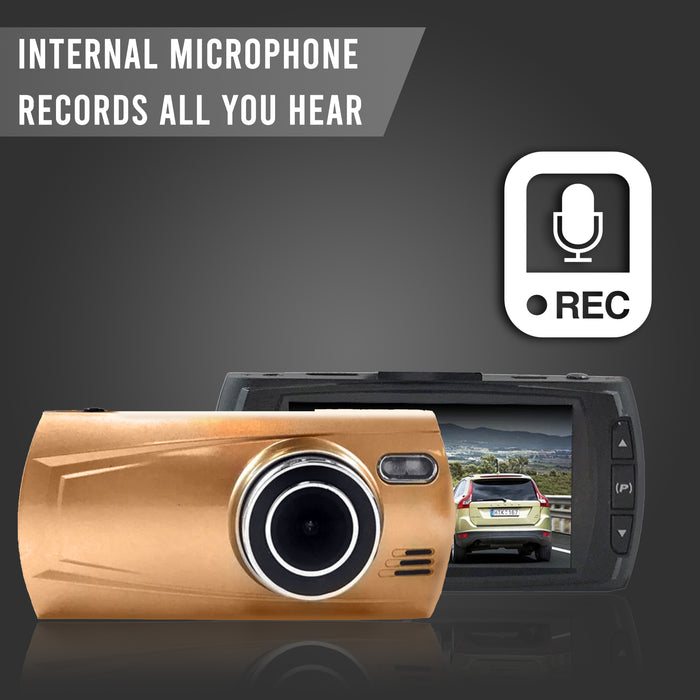 FalconEye Dual Dash cam, 1080P, Records 2 Viewpoints