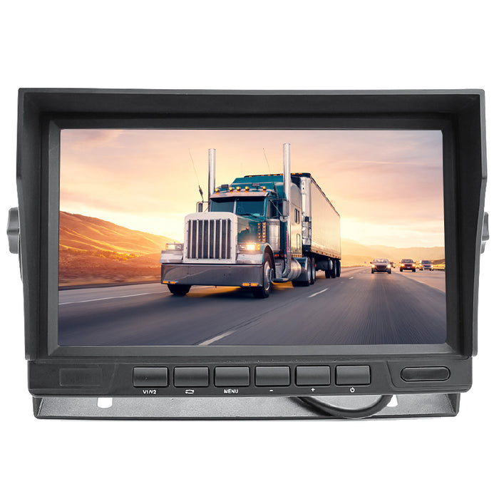 "Hidden 2nd Gen 1080P Super Night Vision Wired Backup Camera w/ 7"" LCD!"