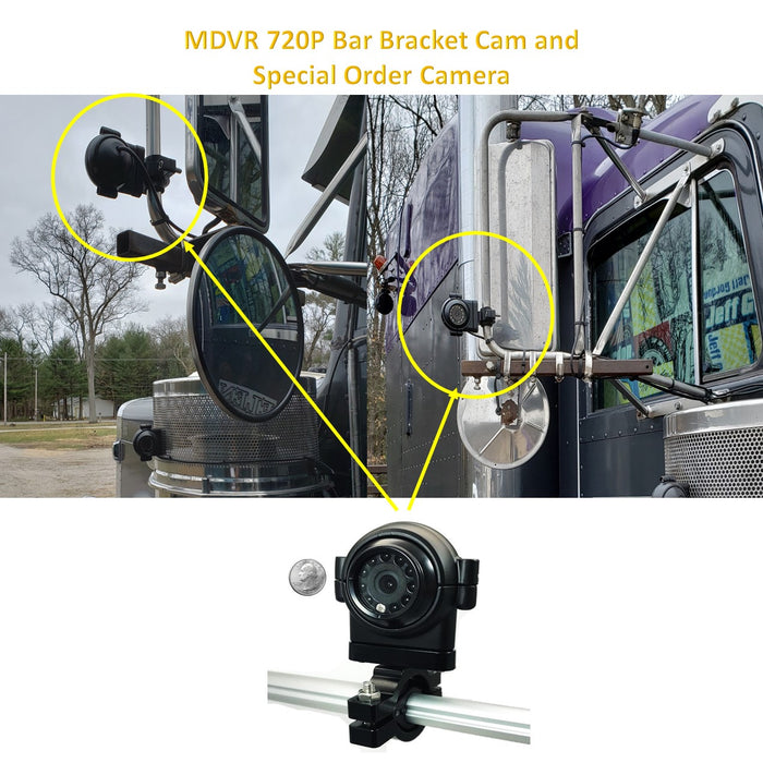 1080P MDVR and MNVR Heavy Duty Cam with BAR/Handle Bar Bracket