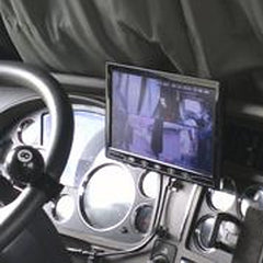 "Trucker MDVR GPS 720P HD System w/ 3 Cams (can add 4th) & 7"" LCD  - up to 256GB! FREE Shipping - FalconEye Trucker Dash Cams  - 11"