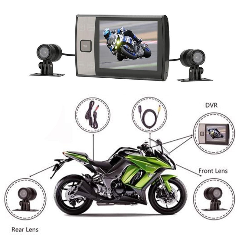 MotoProCam Dual WiFi DVR Cam System for Motorcycles & ATV's