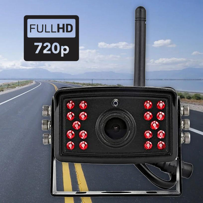 "2nd Gen 2-4 Cam Wireless Backup Cam with 7"" LCD System For Trucks - Heavy Duty"