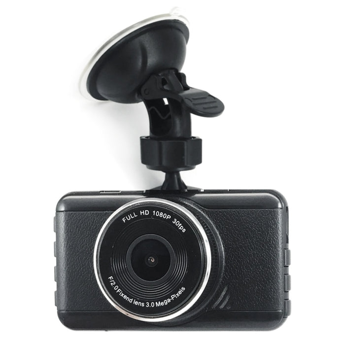 "PRIME Wide Angle 1296P Dashcam with 3"" LCD, Great Night Vision"