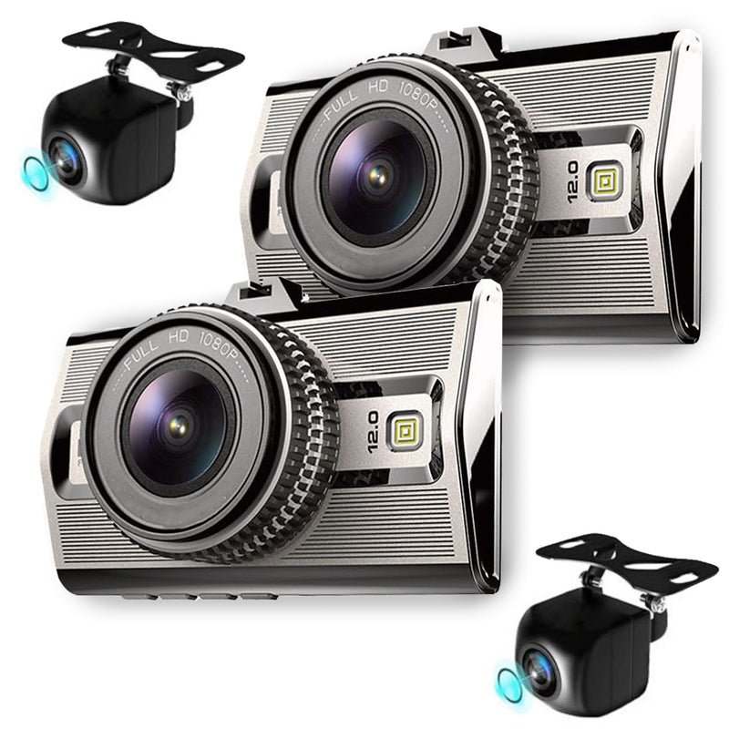 Prime4 Dash Cam System, Record 4 Viewpoints! 2 Outdoor Cams! Best Day/Night Video!