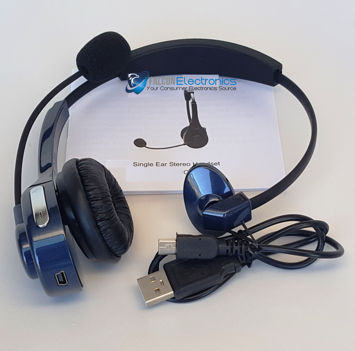 TRUCKER 10x Noise Canceling Bluetooth Headset with 27Hr Talk Time & STEREO! - FalconEye Trucker Dash Cams  - 5