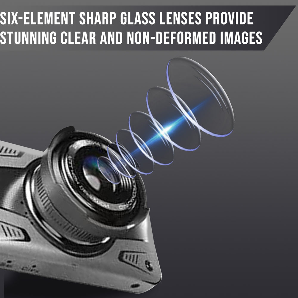 Prime Dual 1080P DashCam, Records 2 Viewpoints with 1080P Cams