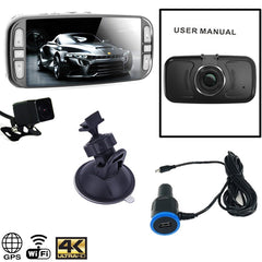 Pinnacle WiFi 4K GPS DUAL Dash Cam! Top of the Line Dual Cam with Night Vision!