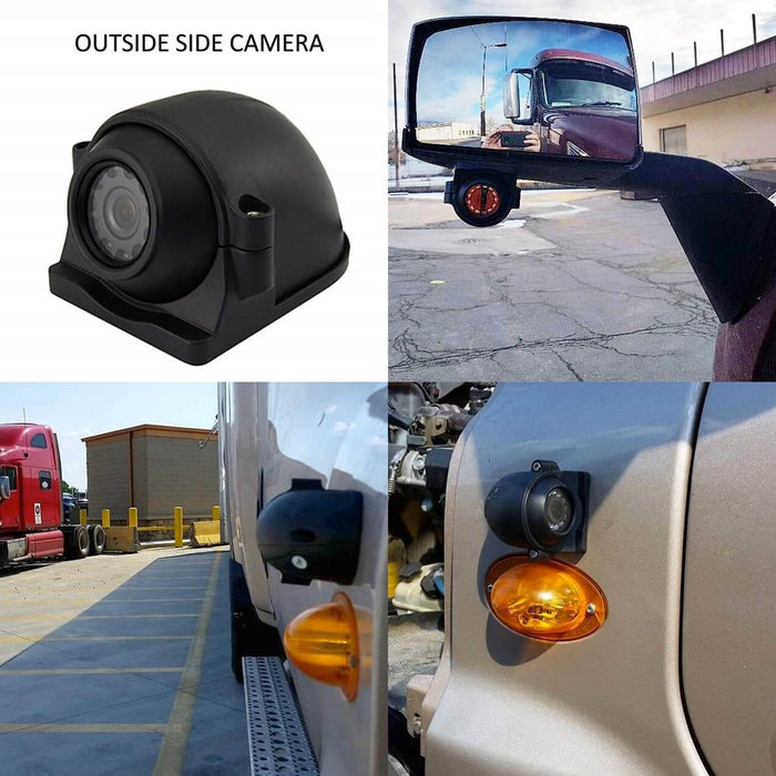 Black Box Fleet Dash Cam, 3-8 Cam MDVR System, 1080P, HDD Drive, GPS