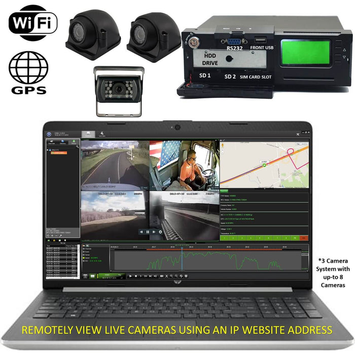 4G MNVR 3-8 Cam DVR System with Live Streaming, GPS, WIFI- DISCONTINUED