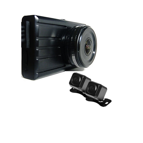 3 Dash Camera system-1 Windshield Mounted Cam & 2 Waterproof outside cams- One Power Source