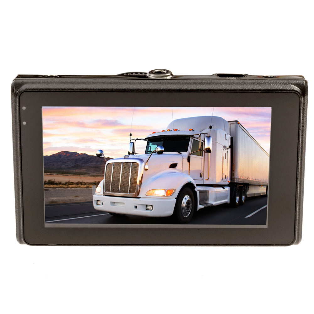 Trucker Dash Cam - FalconEye 3 camera system. 1 Windshield Mounted Cam & 2 Waterproof Cams for each Mirror! One Power Source! -