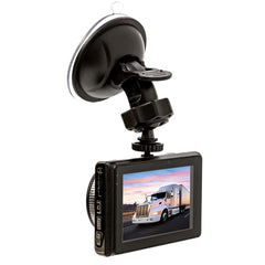 3 Camera Trucker Dash Cam - 1 Windshield Mounted Cam & 2 Waterproof Cams for each Mirror! One Power Source! - FalconEye Trucker Dash Cams  - 3
