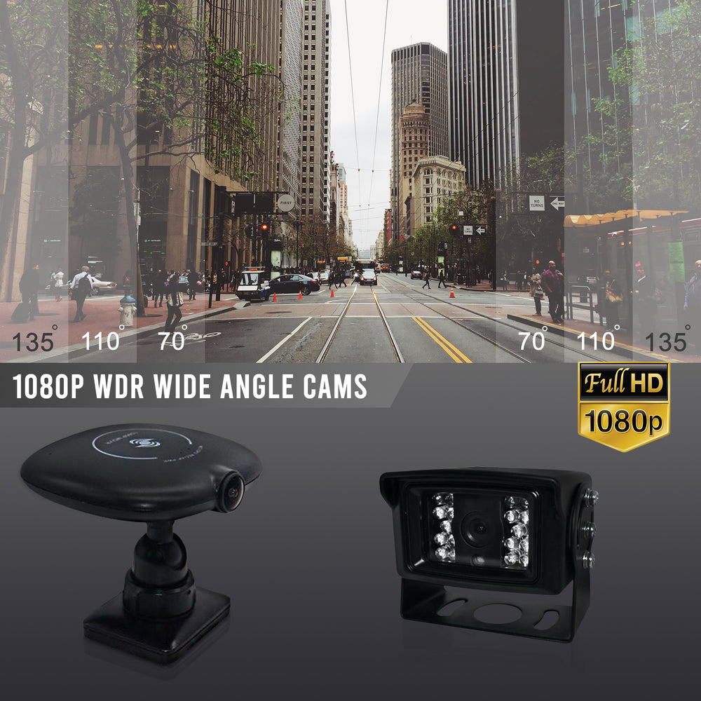 Dual Dash Cam with Live Streaming. WIFI, 4G, GPS, 1080P, Live Tracking