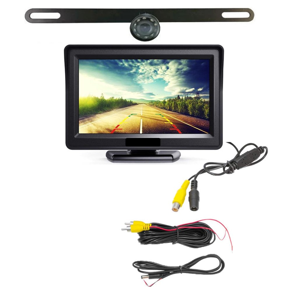 WIRED License Plate Backup Camera w/ 4.3