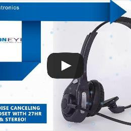 TRUCKER 10x Noise Canceling Bluetooth Headset with 27Hr Talk Time & STEREO! - FalconEye Trucker Dash Cams  - 2