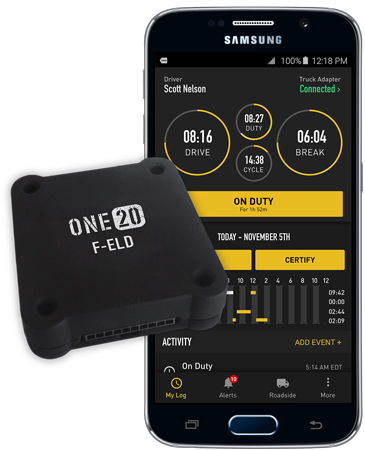 F-ELD (Electronic Logging Device) - Simple & Cost Effective FMCSA Compliant ELD! No Monthly Fees!