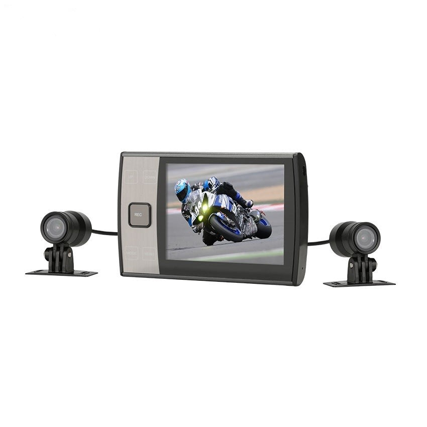 MotoProCam Dual WiFi 1080P Motorcycle DVR Camera System